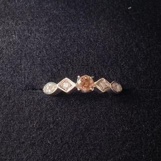 ピンクダイヤモンド リング 0.224ct(リング(指輪))