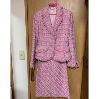 ミッシェルクラン(MICHEL KLEIN)のミッシェルクラン ツイードスーツ (スーツ)