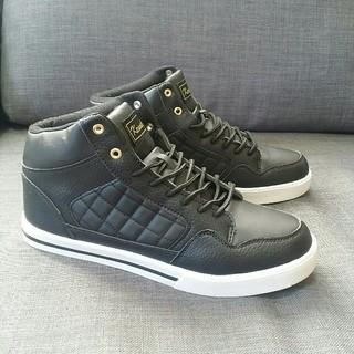 【新品・サイズ多数】メンズ 25.5cm スニーカー シューズ 靴 黒(スニーカー)