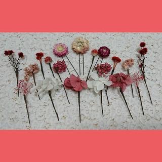 ayana様 専用 和装 ヘッドドレス🌼赤 ピンク 白(ヘッドドレス/ドレス)