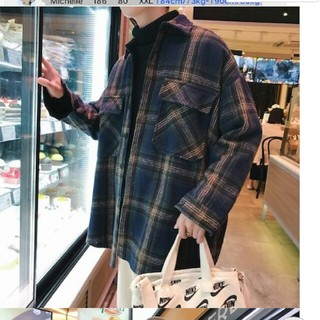 neos系 チェックコートブルゾン 韓国ファッション