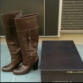 ペリーコ(PELLICO)のペリーコ PELLICO ロングブーツ 茶色 ブラウン(ブーツ)