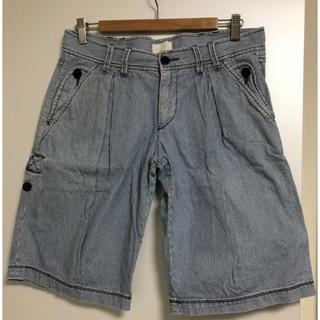 フレンチコネクション(FRENCH CONNECTION)の【FCUK jeans/FrenchConnection】ヒッコリーハーフパンツ(ハーフパンツ)