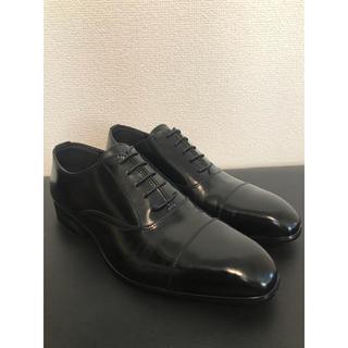 コムサメン(COMME CA MEN)の新品 未使用 人気 コムサメン ビジネスシューズ ブラック(黒)サイズ26.5(ドレス/ビジネス)