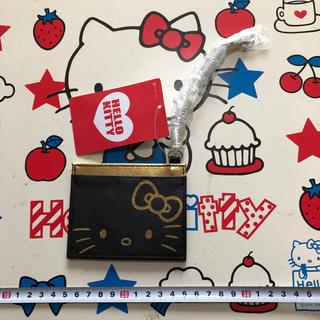 サンリオ(サンリオ)のサンリオ ハローキティーちゃん 黒&金カラー タグ付き・新品・未使用品パスケース(名刺入れ/定期入れ)