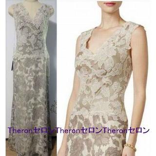 TADASHI SHOJI - 新品 TADASHISHOJI タダシ 花刺繍ロングドレス