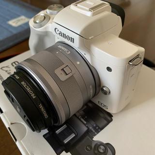 Canon - EOS Kiss M ダブルズームキット ホワイト