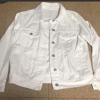 ジーユー(GU)のデニムジャケット Gジャン 白 ホワイト GU LOWRYSFARM HARE(Gジャン/デニムジャケット)