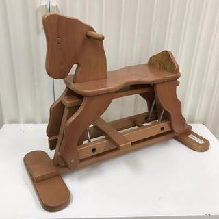 カトージ(KATOJI)の☆綺麗☆   木馬   乗用 玩具   ブラウンファーム♪ 前後にスイング(三輪車/乗り物)