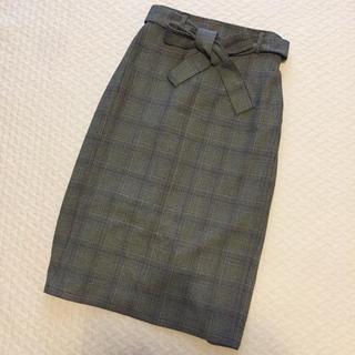 GU - GUグレンチェックミモレタイトスカート