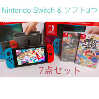 Nintendo Switch - NintendoSwitch & ソフト3つ セット