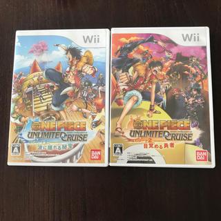 ウィー(Wii)のWiiソフト:ONE PIECE エピソード1,2(家庭用ゲームソフト)