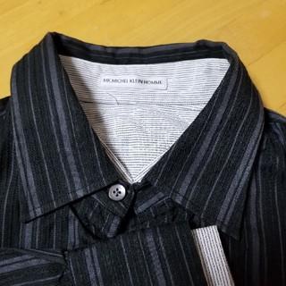 エムケーミッシェルクランオム(MK MICHEL KLEIN homme)のMK MICHEL KLEIN HOMME シャツ(黒)(シャツ)