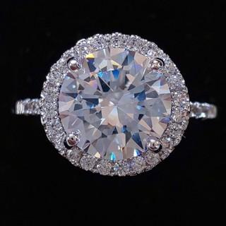 スワロフスキー(SWAROVSKI)の豪華 1.8㌌ ダイヤモンドCZ リング K18金 ホワイトゴールドコーティング(リング(指輪))