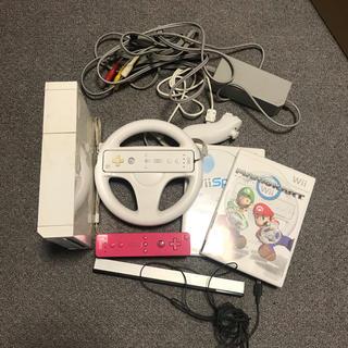 ウィー(Wii)のWii コンローラー カセット マリカー付き(家庭用ゲーム本体)