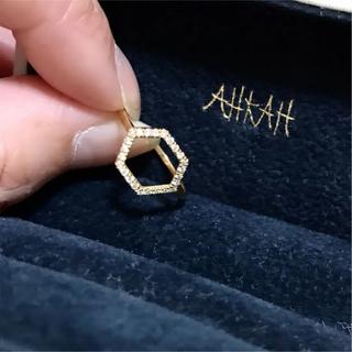 アーカー(AHKAH)のAHKAH アーカー ルミパヴェリング  9号 美品(リング(指輪))
