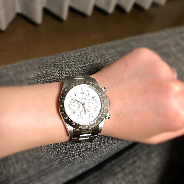 agete(アガット)のageteメンズ時計シルバーホワイト系ユニセックス メンズの時計(腕時計(アナログ))の商品写真