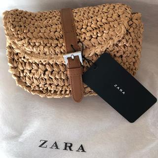 ザラ(ZARA)のzara  編み込み ベルト バッグ 新品(ベルト)