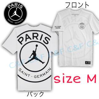 NIKE - NIKE JORDAN PSG LOGO Tシャツ ホワイト/ナイキ、ジョーダン