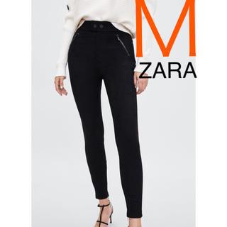 ザラ(ZARA)のZARA 新品未使用 ハイウエスト レギンス パンツ ブラック Mサイズ(レギンス/スパッツ)