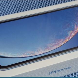 アイフォーン(iPhone)の新品 simフリー iphone XR 128GB ブルー  iPhonexr(スマートフォン本体)