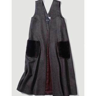 ATON Aラインジレ&ドレス(ベスト/ジレ)