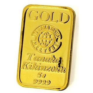 K24 地金 5グラム 田中貴金属 ゴールドバー 純金 GOLD インゴット(その他)