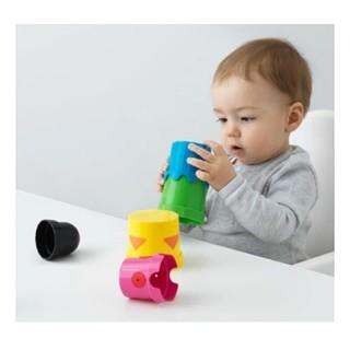 IKEA ビルディングビーカー(カップ)(知育玩具)