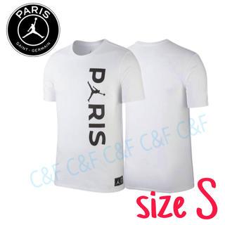 ナイキ(NIKE)のNIKE JORDAN PSG WORDMARK Tシャツ ホワイト/ナイキ(Tシャツ/カットソー(半袖/袖なし))