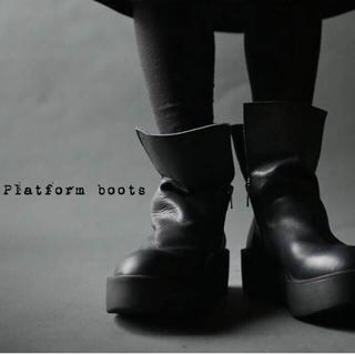 アンティカ(antiqua)のアンティカ 厚底本革デザインブーツ S 中古(ブーツ)