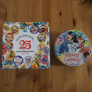 ディズニー(Disney)のディズニーリゾート 25周年&35周年 空き缶(その他)