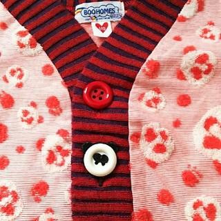 スーパーブーホームズ(SUPER BOO HOMES)の110cm  美品  ブーホームズ  パンダの可愛いカーディガン(カーディガン)