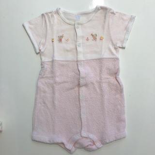 ファミリア(familiar)のファミリア 70〜85センチ ロンパース   グルー 刺繍 女の子 ピンク(ロンパース)