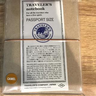 トラベラーズノート パスポートサイズ キャメル 新品 未使用  品番 15194
