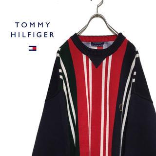 トミーヒルフィガー(TOMMY HILFIGER)のTOMMY HILFIGER トミーヒルフィガー 90s ニット セーター(ニット/セーター)