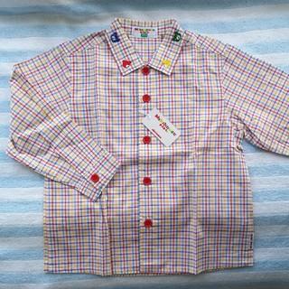 ミキハウス(mikihouse)のシャツ 長袖 チェック(ブラウス)