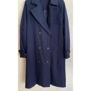 ジーユー(GU)の新品 春用 レディース コート 紺色(トレンチコート)