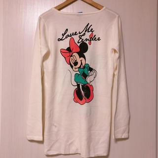 ディズニー(Disney)のミニー ニット ワンピース 背中 大きなミニー (ミニワンピース)
