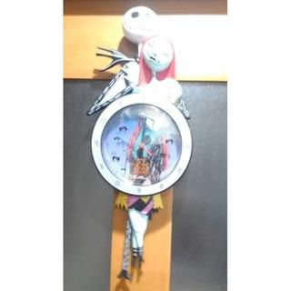 ディズニー(Disney)の◆ナイトメアビフォアクリスマス 壁掛け時計 振り子 動作確認済 中古美品(掛時計/柱時計)