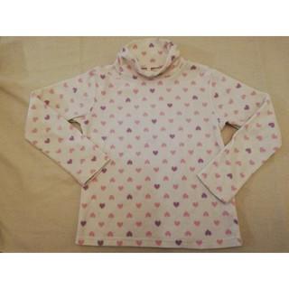 ユニクロ(UNIQLO)のUNIQLO子供服☆130センチ☆ハイネックフリース生地シャツインナー女児キッズ(Tシャツ/カットソー)