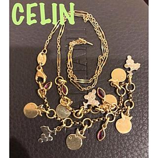 レア♡CELIN♡ヴィンテージルビーゴールドネックレス(ネックレス)