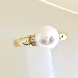 K18YG あこや真珠7.9㎜ リング(リング(指輪))