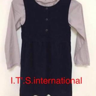 イッツインターナショナル(I.T.'S.international)のお値下げ 美品 イッツ インターナショナル ワンピース(ワンピース)
