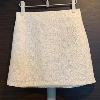 ザラ(ZARA)の新品・タグ付 ZARA レーススカート(ひざ丈スカート)