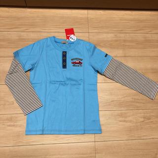 ミキハウス(mikihouse)のミキハウス  水色重ね着風ロンT(140cm)(Tシャツ/カットソー)