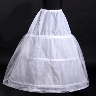 3段フリル ボリューム パニエ ハードチュール 裏地付き パニエ カラースカート(その他)