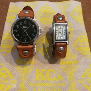 ケイシイズ(KC,s)のKC's レザーベルトペアウォッチ(腕時計)
