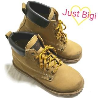 ジャストビギ(JUST BIGI)の♡Just Bigi♡イエローブーツ(*´∀`)♪ 軽量タイプ! 23cm(ブーツ)