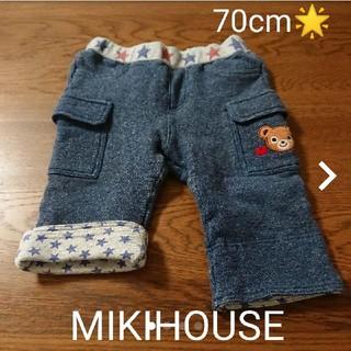 ミキハウス(mikihouse)のミキハウス70cmプッチーくん厚手素材パンツ(パンツ)