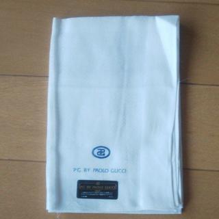 新品未使用 PAOLO GUCCI メンズ フォーマルハンカチ ホワイト(ハンカチ/ポケットチーフ)